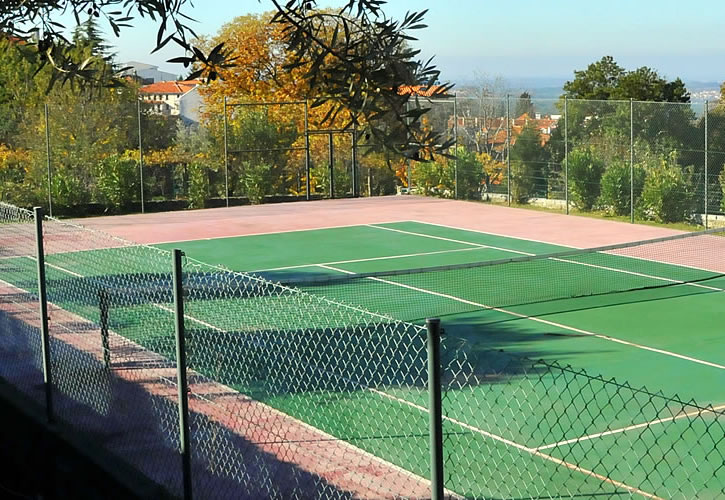 Tennis court in the farm